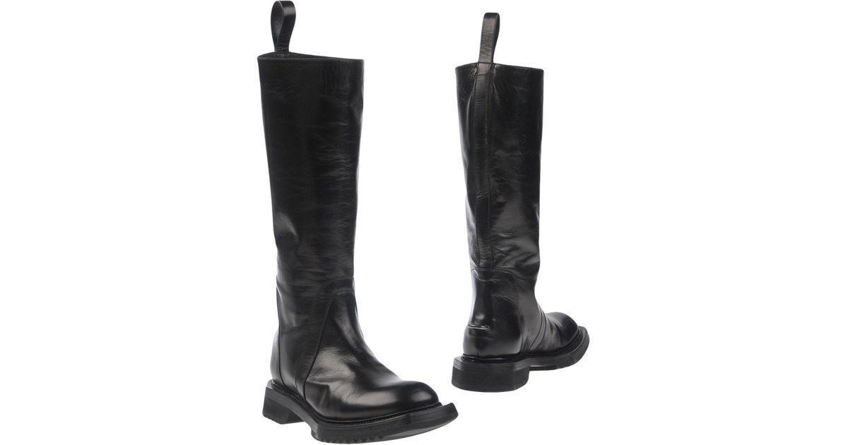 5d4701796b0 Lyst - Rick Owens Boots in Black