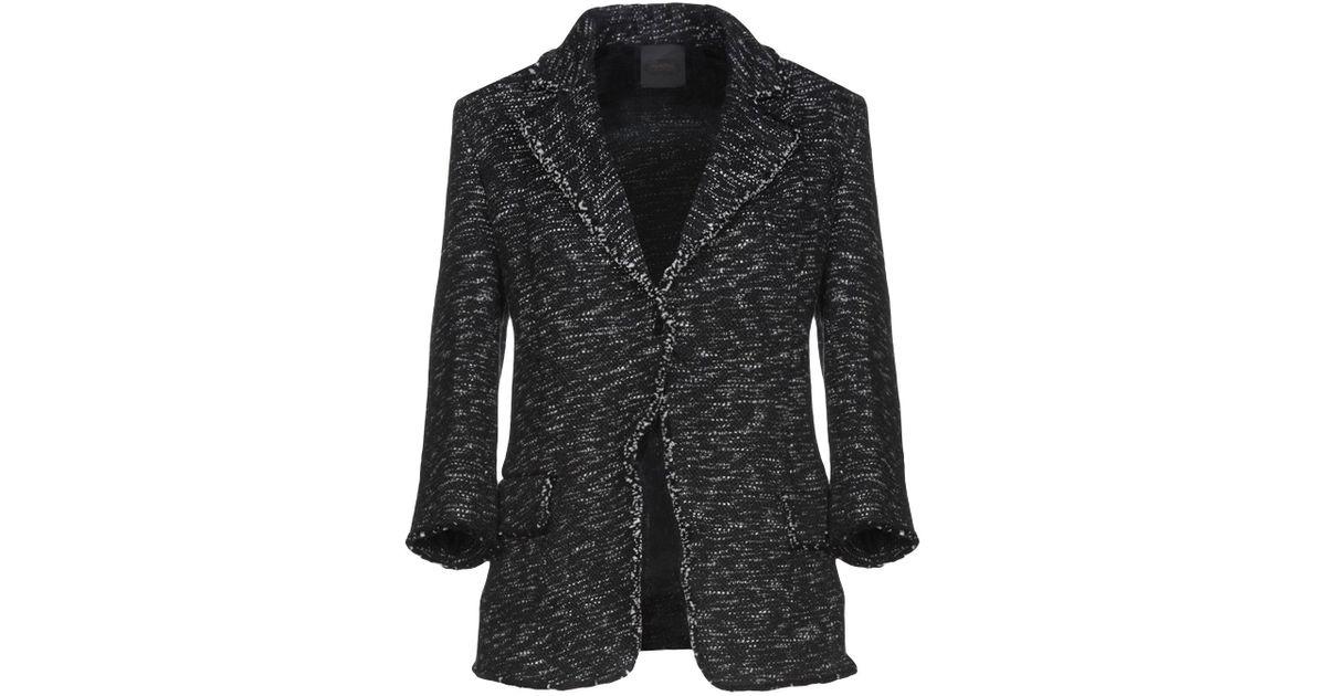 check out 30cec 3bb71 Agnona - Black Blazer - Lyst