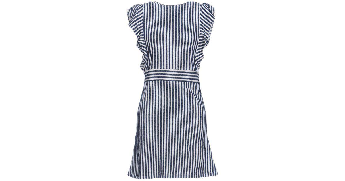 Maison Kitsuné Woman Cotton Turtleneck Mini Dress Blue Size M Maison Kitsuné Recommend Cheap From China Cheap Online D1lhK8T