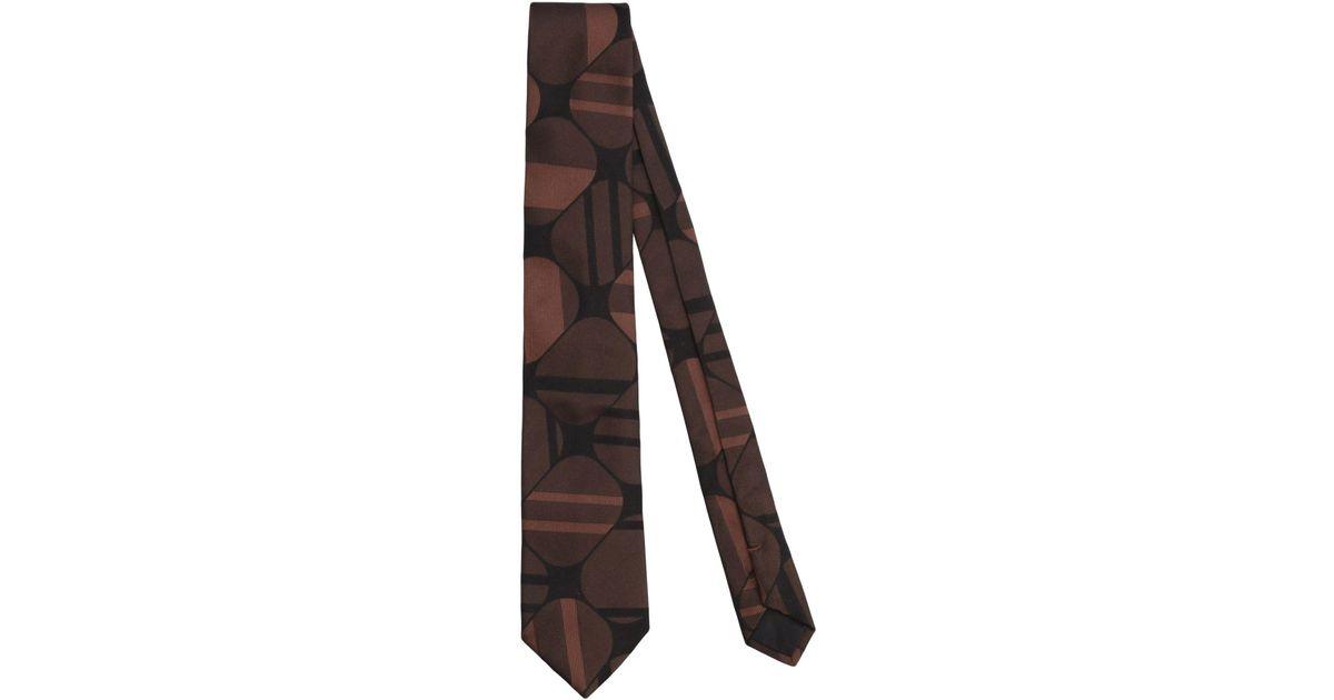 13c5621b3f43 Lyst - Cravate Prada pour homme en coloris Marron