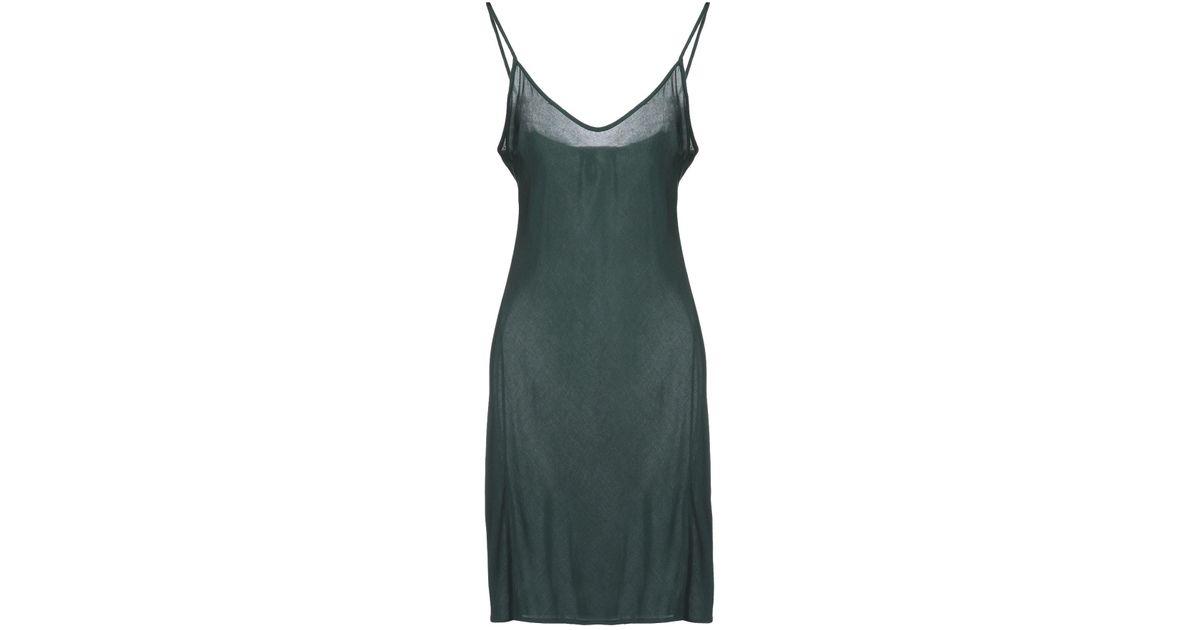 Dark Green Knee Length Tank Dress