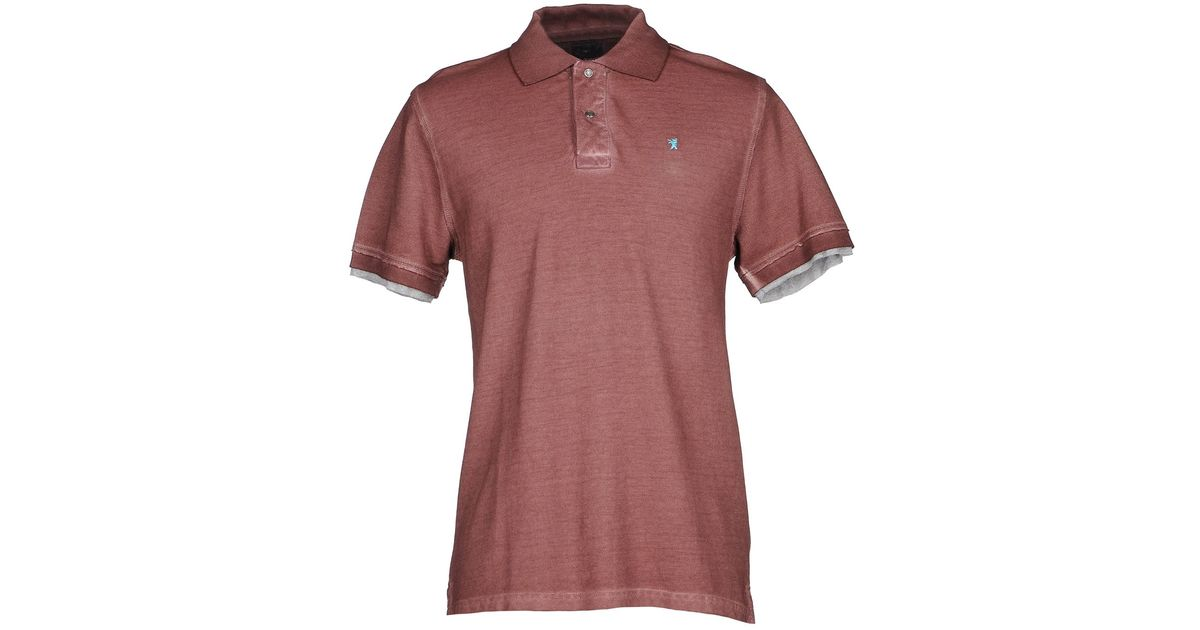 Jaggy polo shirt in brown for men lyst for Light brown polo shirt