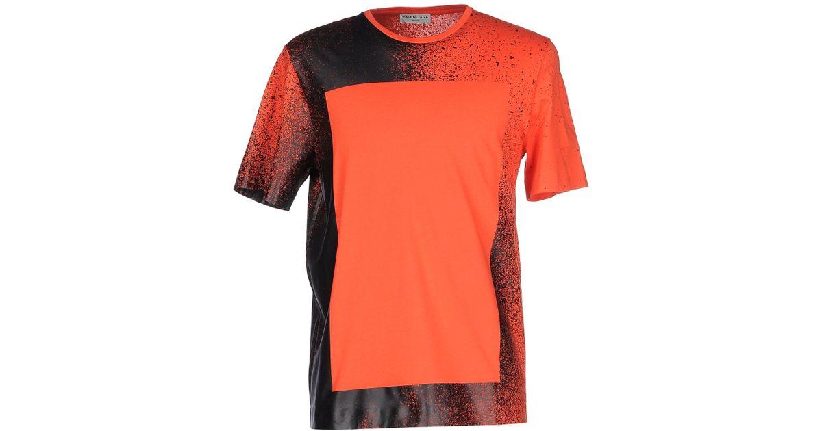 Lyst Balenciaga T Shirt In Red