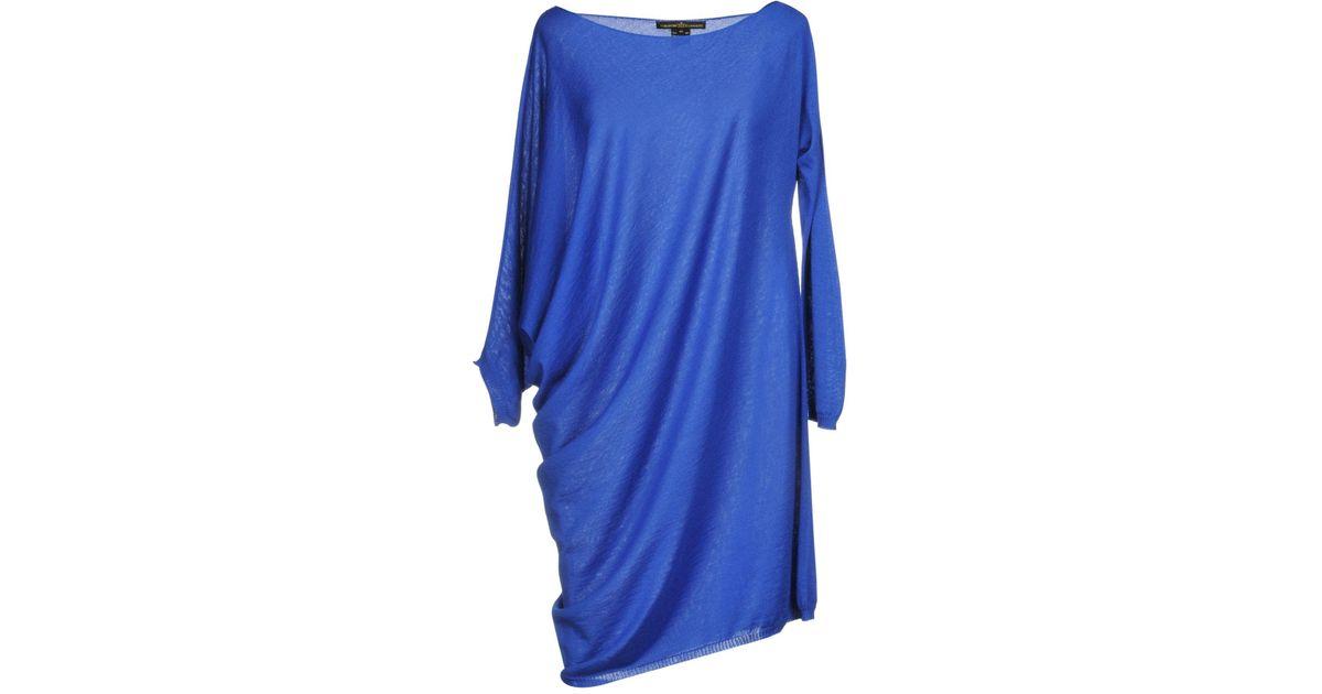 4d8d1223af Tabaroni Cashmere Short Dress in Blue - Lyst