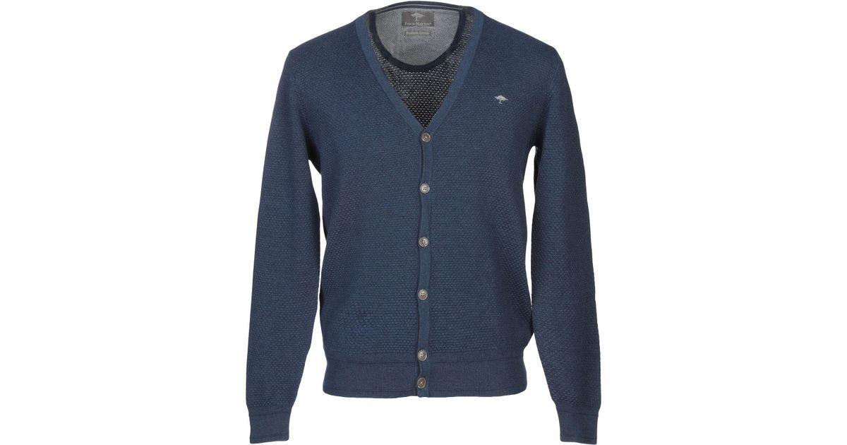 Lyst - Fynch-Hatton Cardigan in Blue for Men 488761567f3d