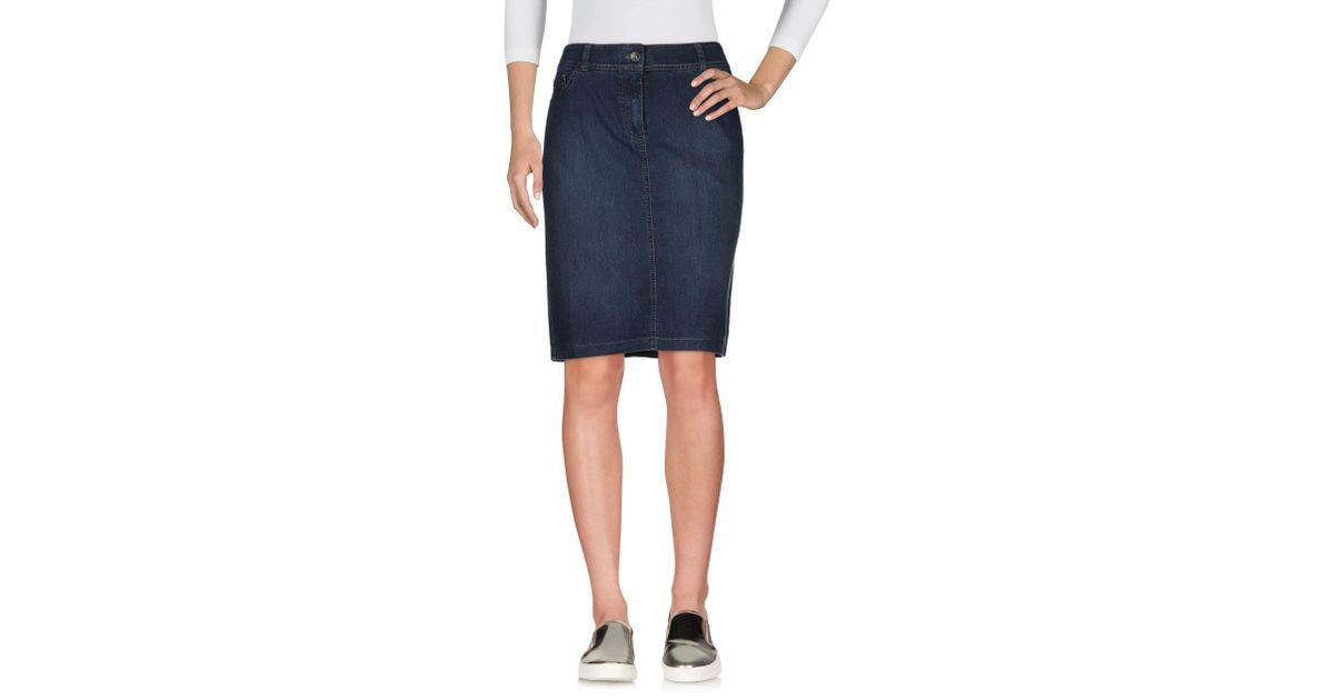 e39c3dadac Lyst - Gerry Weber Denim Skirt in Blue