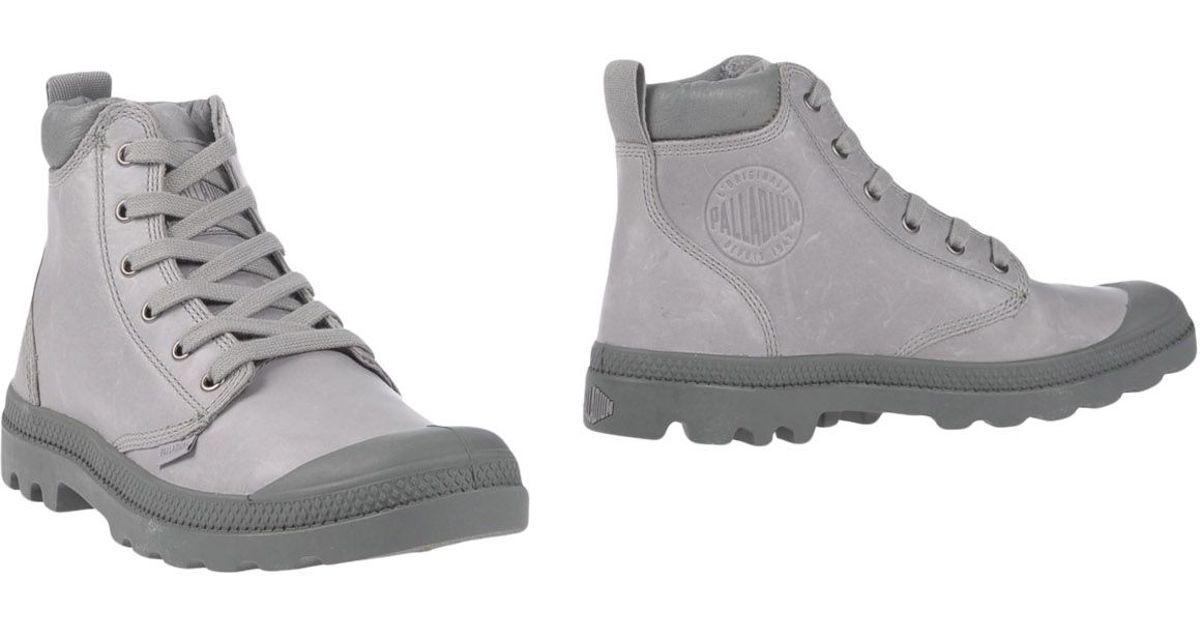 Lastest  Winter Palladium BOOTS LP SUD Grey  Shoes Mid Boots Women Cheap Price