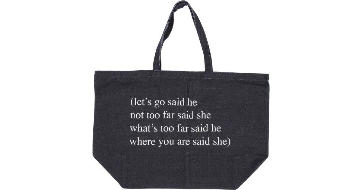 cc791bf9f66 Lyst - Ann Demeulemeester Handbag in Gray