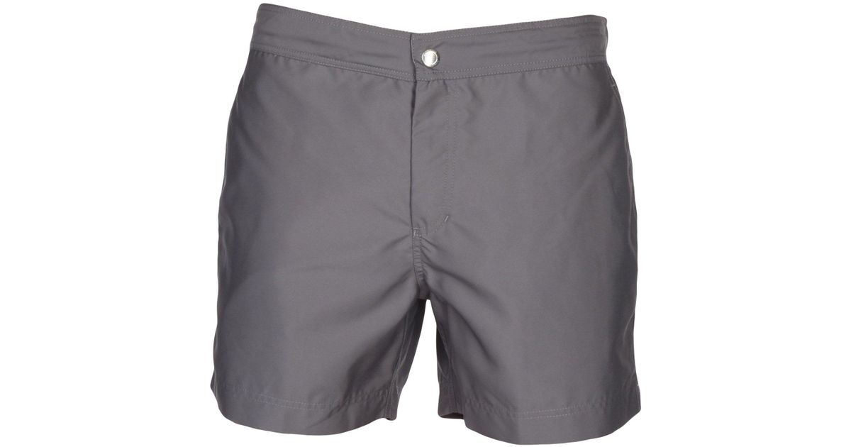 Brunello Cucinelli Slim-fit Mid-length Swim Shorts - Gray LZGaa