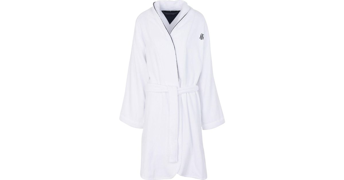 Tommy Hilfiger Towelling Dressing Gown In White Lyst