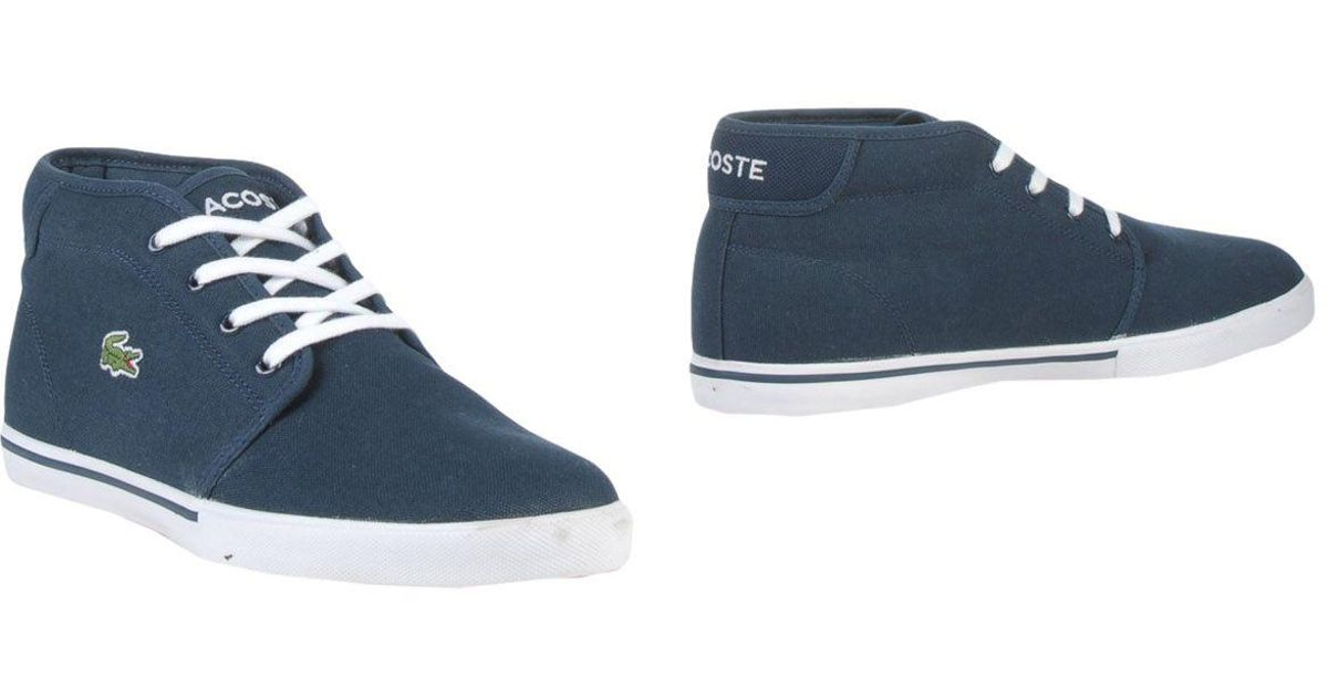 fd9b5ab5300bd Lyst - Lacoste Ankle Boots in Blue for Men