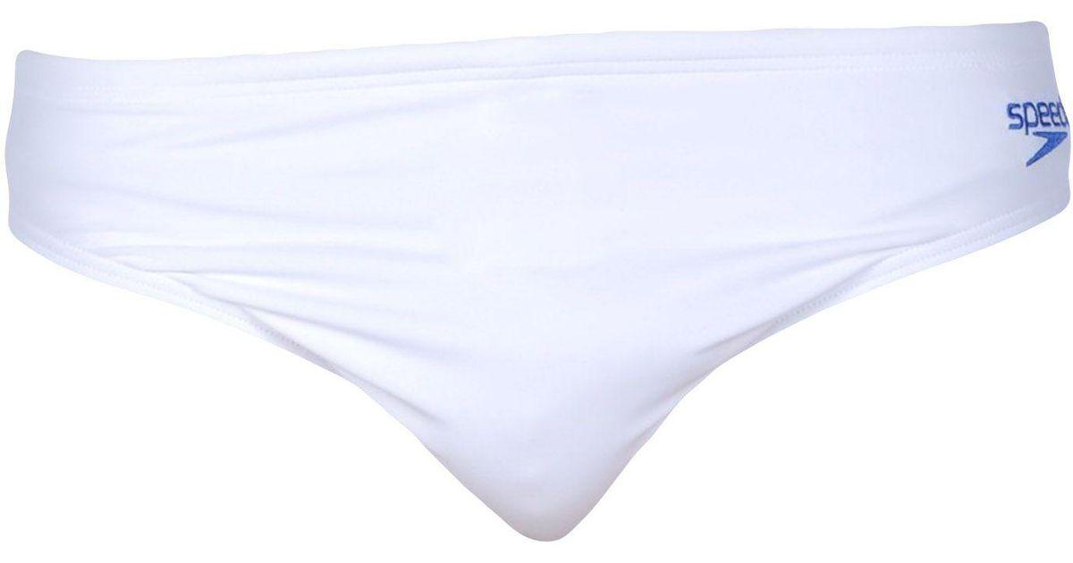 0e5a5c91b6c Speedo Swim Brief in White for Men - Lyst