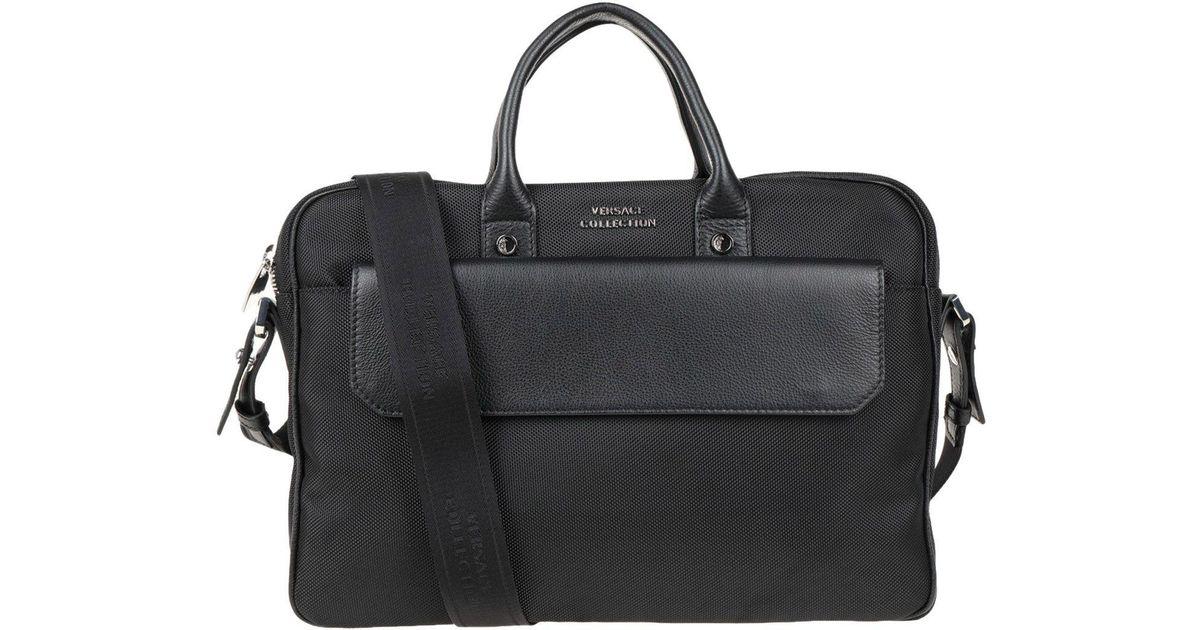 c5c087415b Versace Work Bags in Black - Lyst