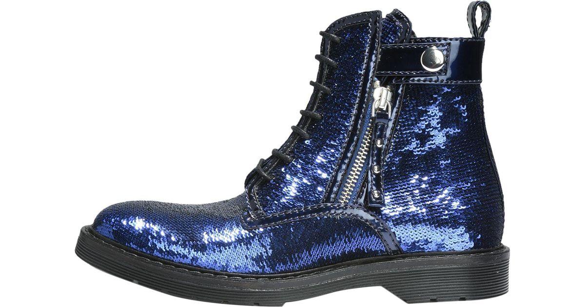 b413d99331 Armani Exchange - Blue Ankle Boots - Lyst