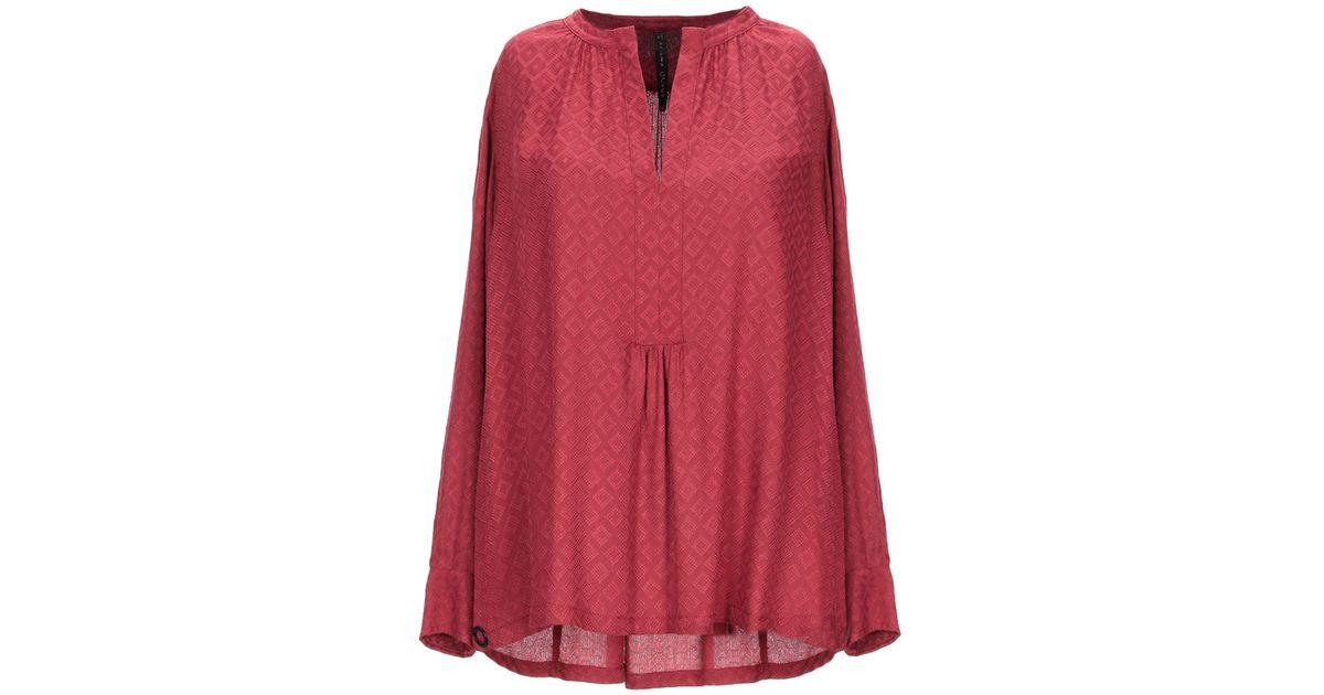 07790627ec85b Lyst - Manila Grace Blouse in Red