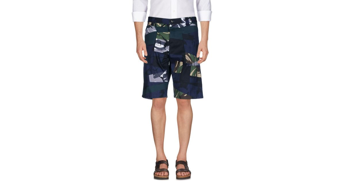 f1bcc801ca30 KENZO Bermuda Shorts in Green for Men - Lyst
