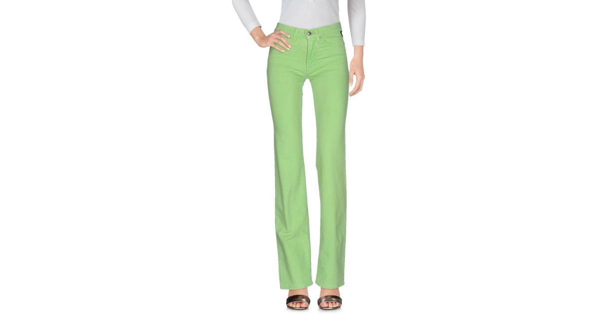 34cad935786c Lyst - Pantalon en jean Versace Jeans en coloris Vert