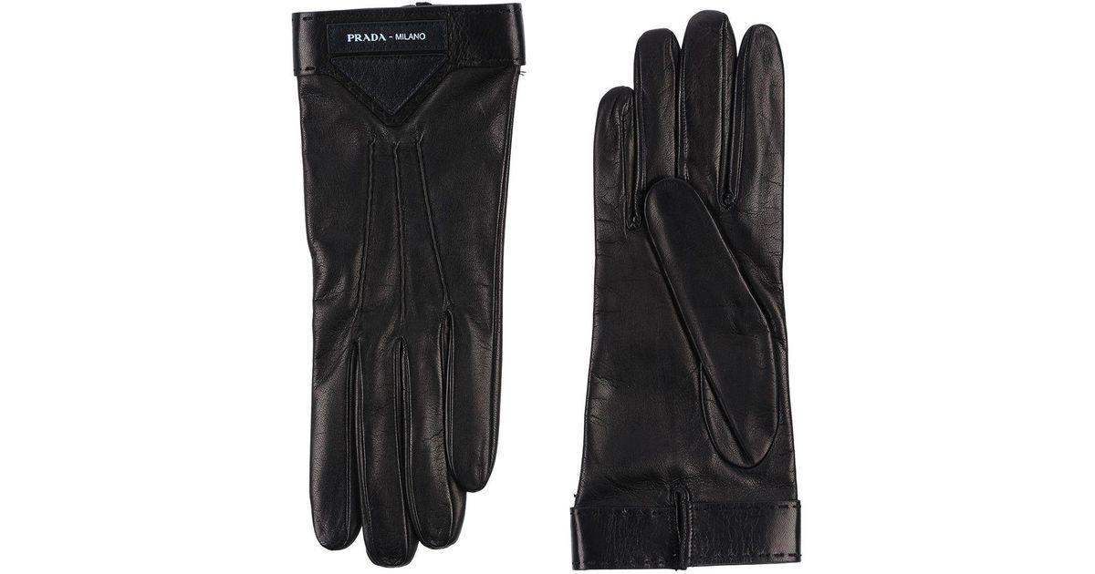 5b5d5ffa462f3 Lyst - Prada Handschuhe in Schwarz