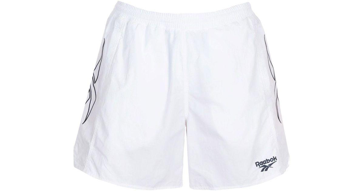 72f91bdd45ae1 Lyst - Reebok Swimming Trunks in White for Men