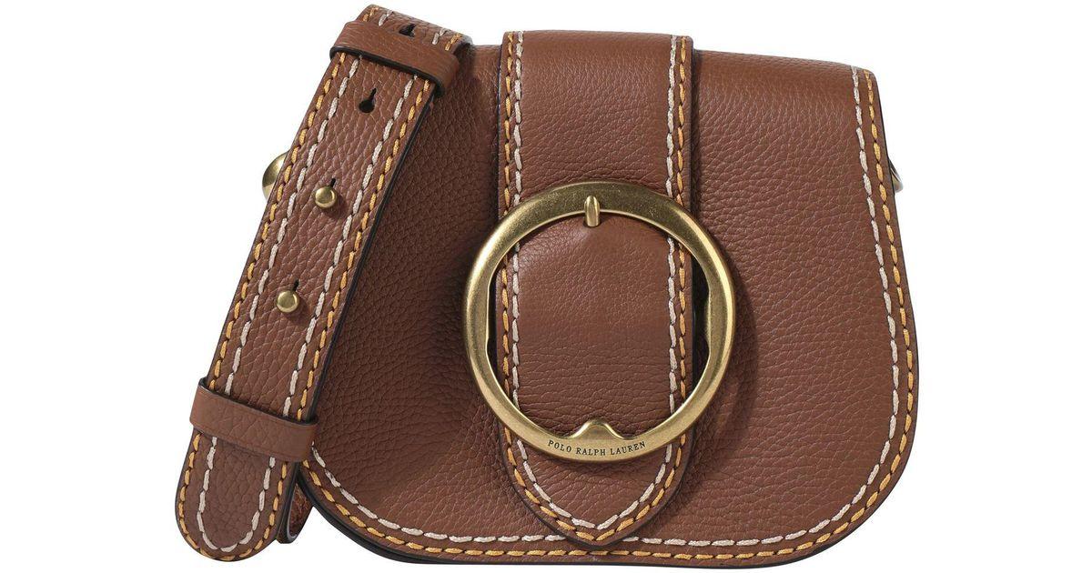 a9d4d8fa5b Polo Ralph Lauren Cross-body Bag in Brown - Lyst