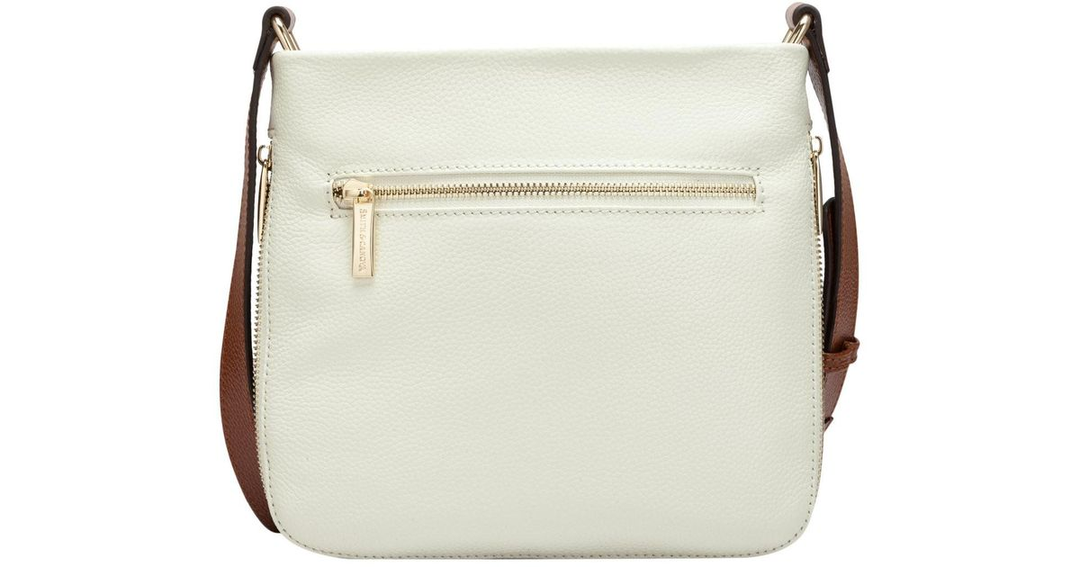 Lyst - Smith   Canova Zip Detailed Cross Body Bag In Cream - Tan in Natural 18a0c737899ac
