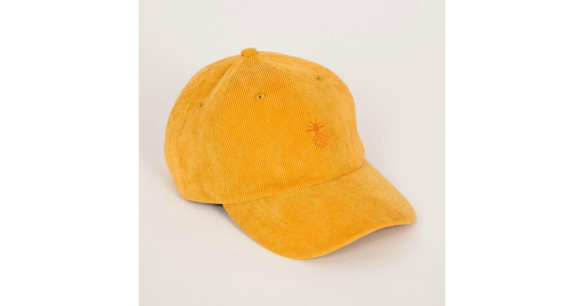 Lyst - Qilo Pineapple Corduroy Dad Hat    Mustard in Yellow for Men 4077c4dcb3d