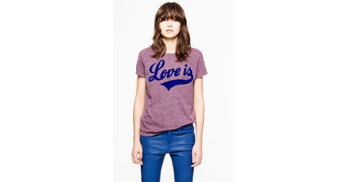 c26739fc75c2 Lyst - Zadig   Voltaire Walk Chin T-shirt