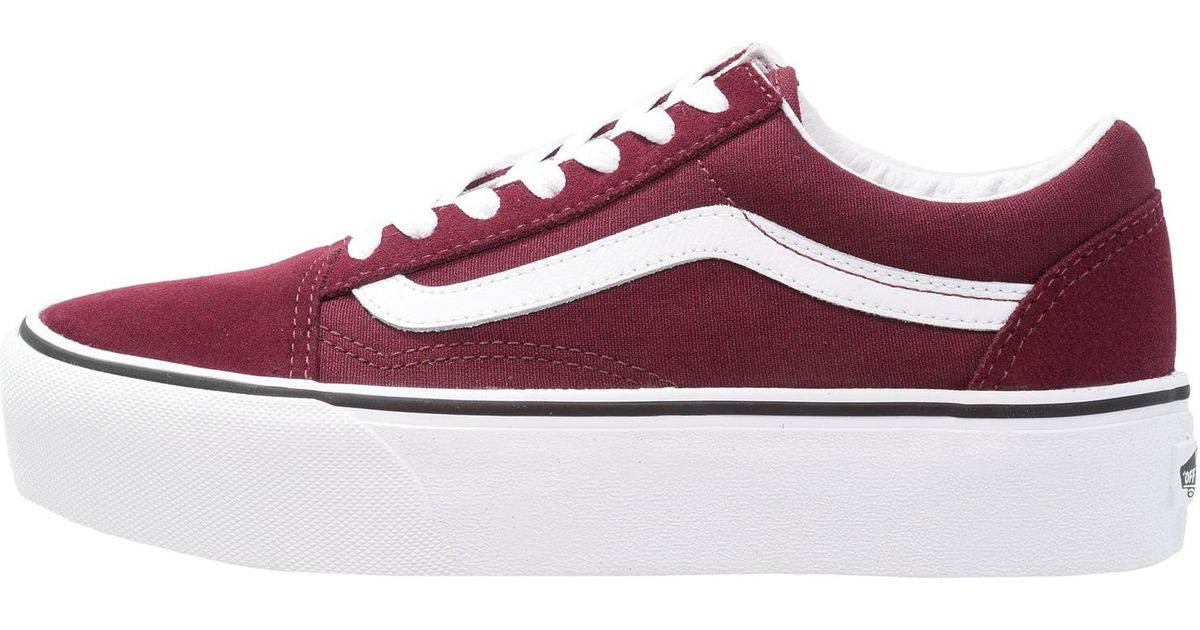 vans old skool platform bordeaux. Black Bedroom Furniture Sets. Home Design Ideas