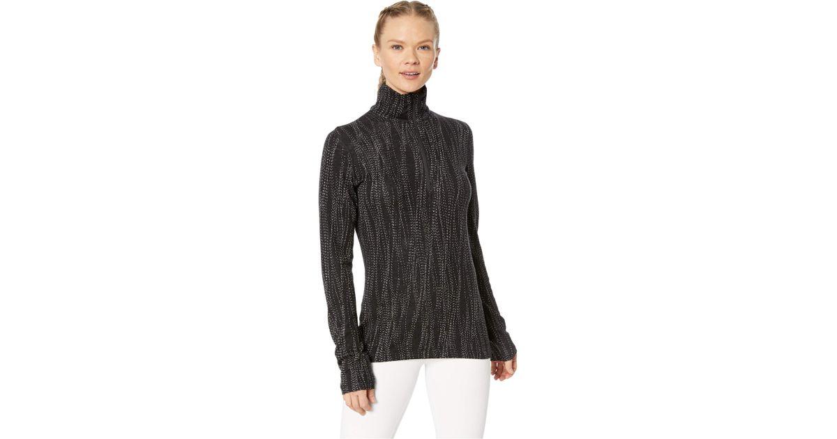 c8f10647d429d Icebreaker 250 Vertex Merino Baselayer Long Sleeve 1/2 Zip Drift  (black/snow) Women's Clothing in Black - Lyst
