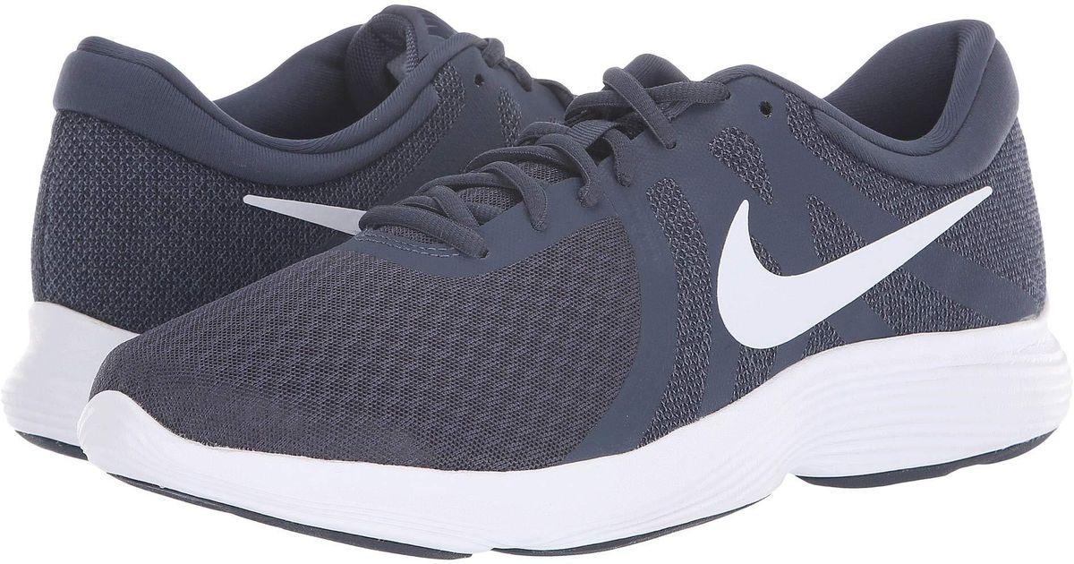 c4f592b84b0 Lyst - Nike Revolution 4 (dark Grey gym Blue anthracite white) Men s  Running Shoes in Gray for Men