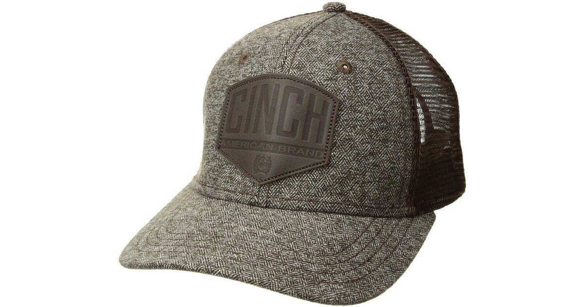 6d2c84aa249 Lyst - Cinch Snapback Mesh Trucker Hat (brown) Caps in Brown for Men