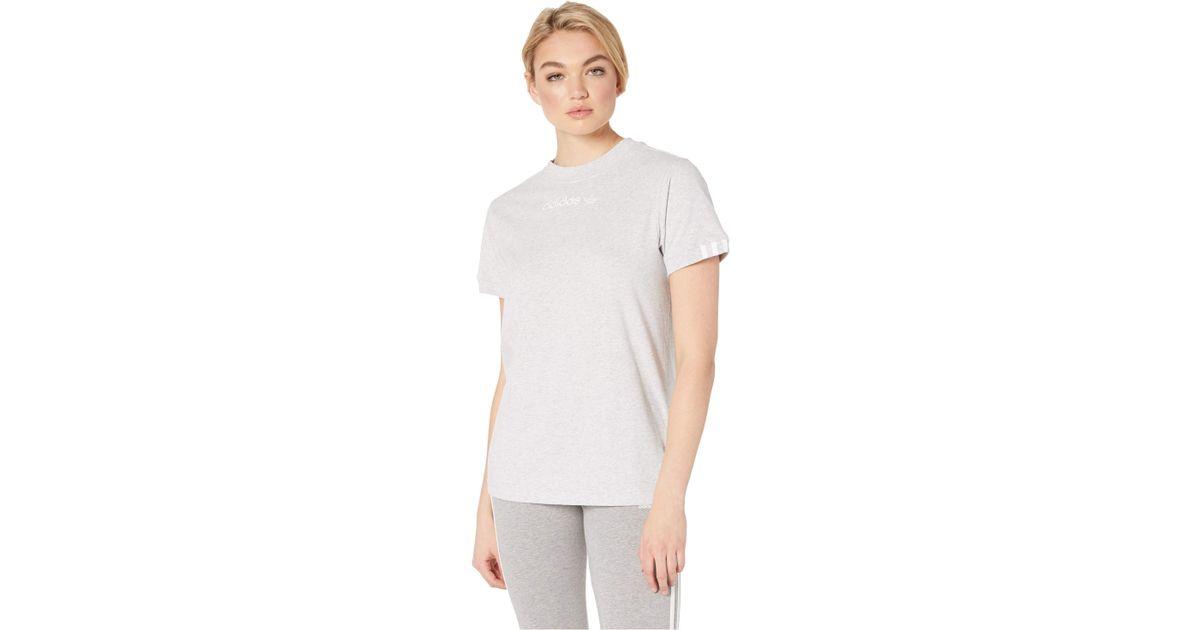 cd72e48d adidas Originals Coeeze T-shirt (light Grey Heather) Women's T Shirt in  Gray - Lyst