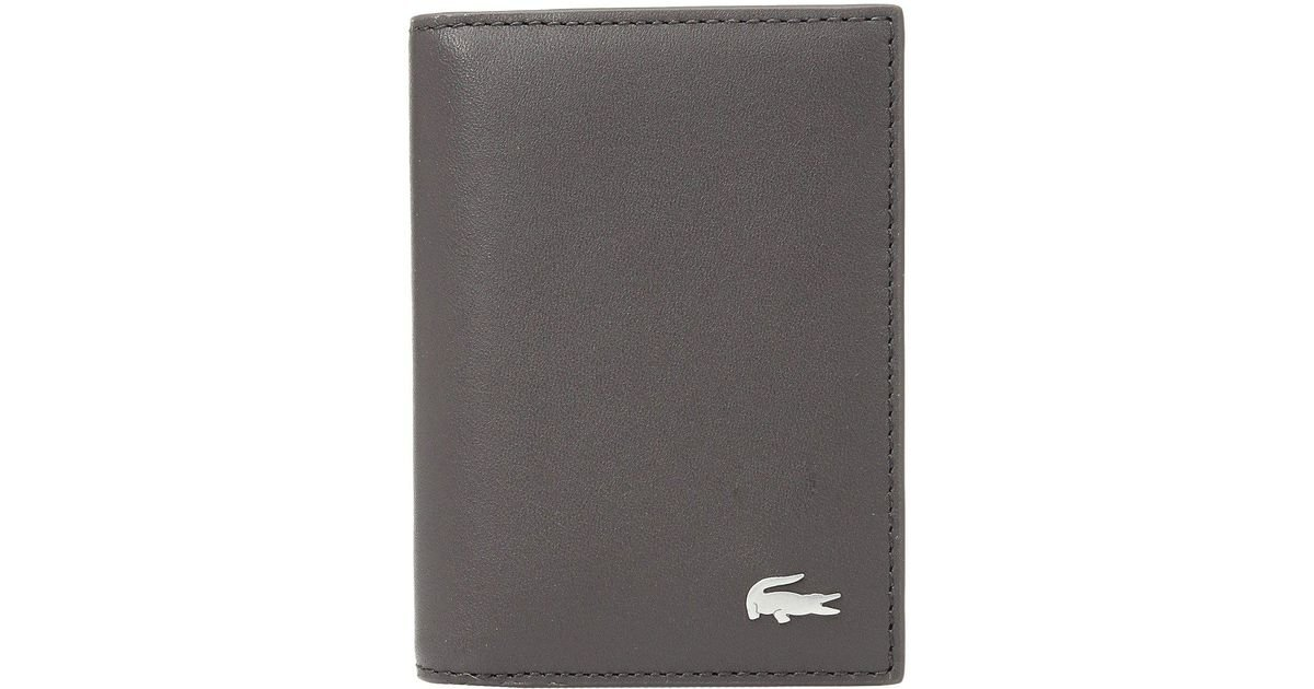 Lyst - Lacoste Vertical Business Card Holder in Brown