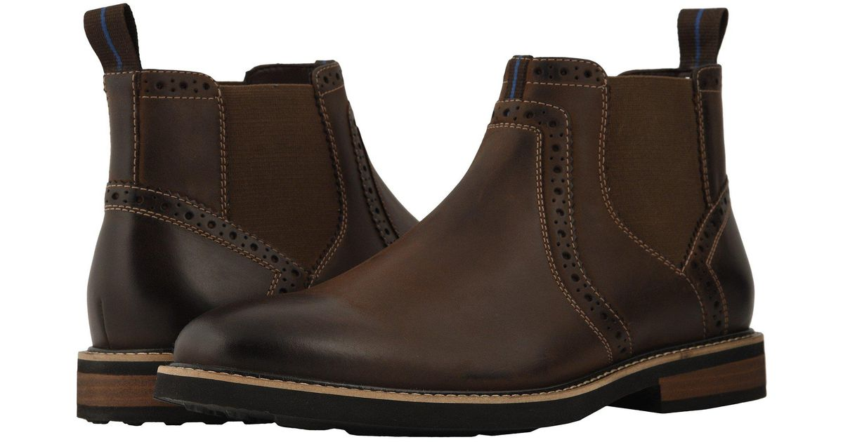 d87e3b095c9f Lyst - Nunn Bush Otis Plain Toe Chelsea Boot With Kore Walking Comfort  Technology (black Tumbled) Men s Boots in Brown for Men - Save 1%