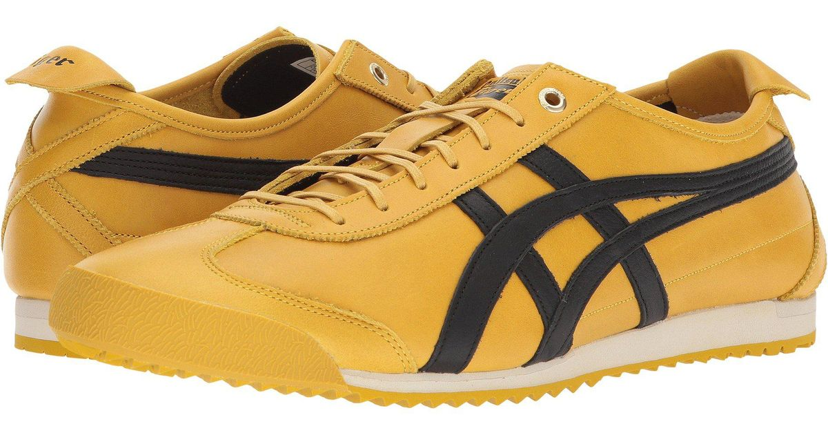 yellow asics shoes