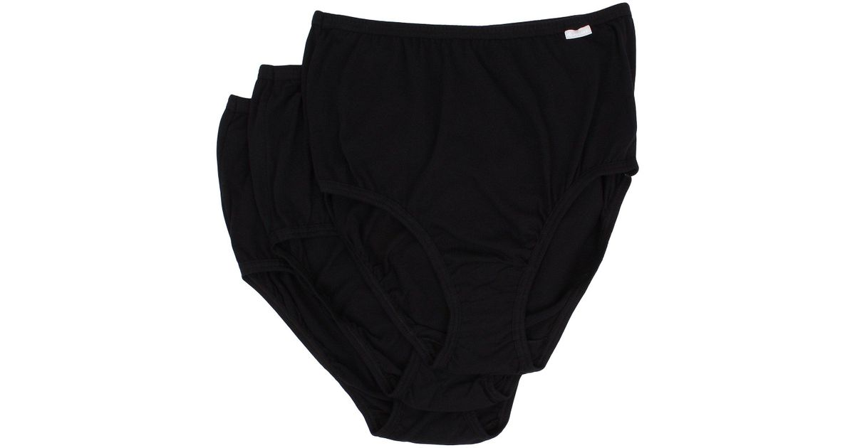 0a968e6b9 Lyst - Jockey Plus Size Elance(r) Brief 3-pack (deep Blue Heather deep Blue  Dot sea Blue Denim Heather) Women s Underwear in Black