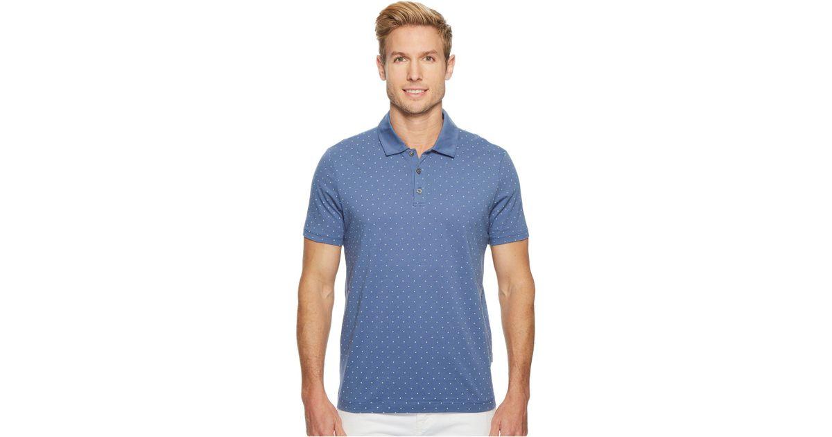 2f2edb31 Perry Ellis Micro Print Pima Cotton Polo Shirt (coastal Fjord) Men's  Clothing in Blue for Men - Lyst
