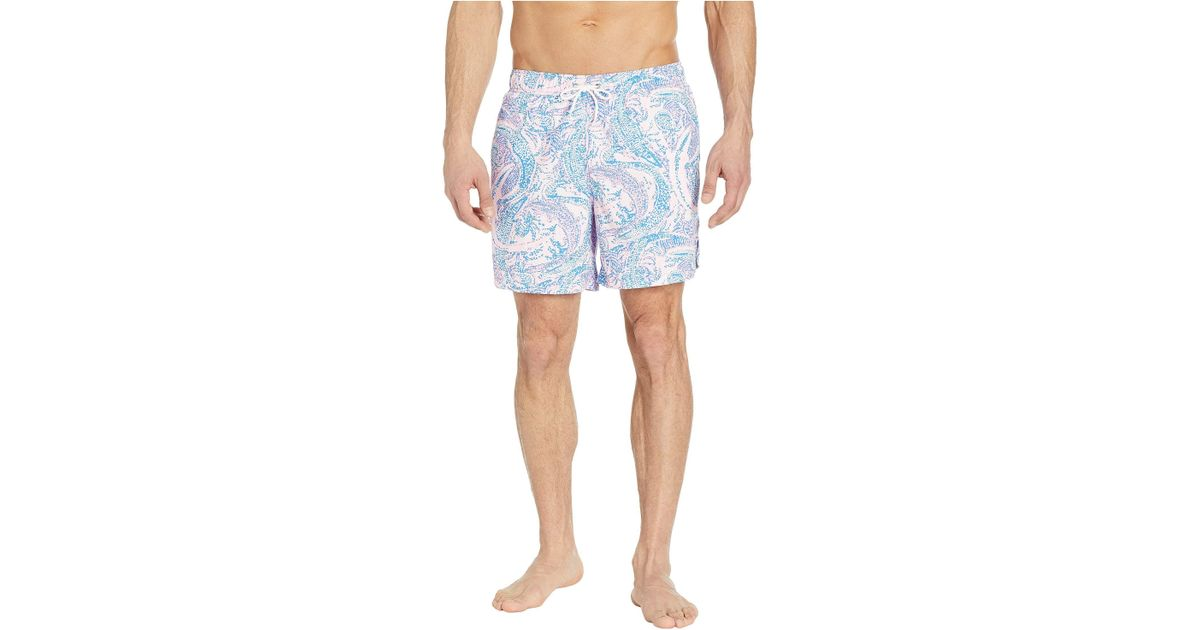 a8e30ca778fe39 Lilly Pulitzer Capri Trunks in Blue for Men - Lyst