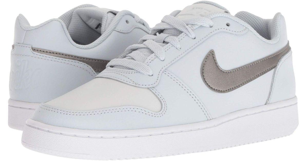 3752b3d2519 Lyst - Nike Ebernon Low (black black white) Women s Shoes in White