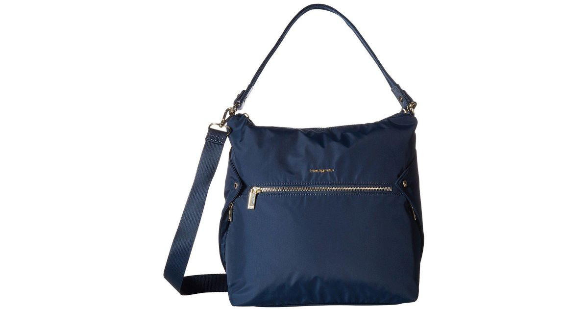 Hedgren Prisma Oblique Hobo (Dress Blue) Hobo Handbags 2Sx9mvn3