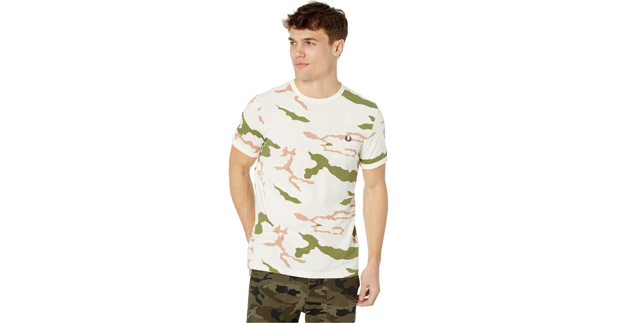 3915e225b Lyst - Fred Perry Camouflage T-shirt (tundra Camo) Men's Clothing in Green  for Men