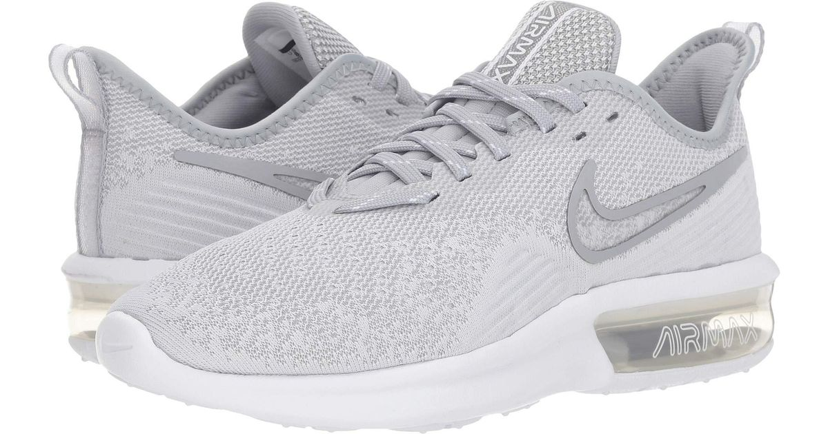 sale retailer ffcbe 5c035 Nike Air Max Sequent 4 (black black white) Women s Running Shoes in White -  Lyst
