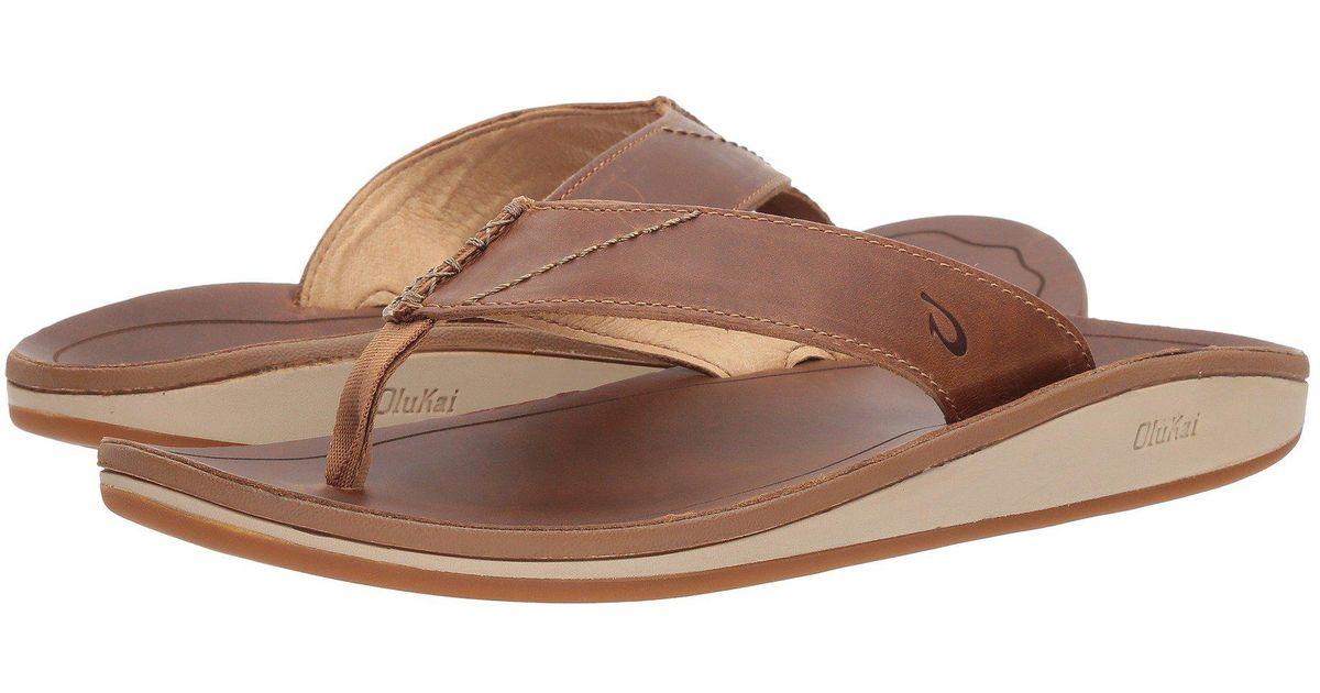 8346d6cd977b Lyst - Olukai Nohona  ili (black black) Men s Sandals in Brown for Men