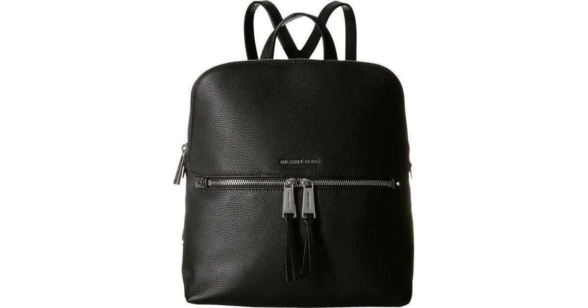 ccc8e63ab75ec Lyst - MICHAEL Michael Kors Rhea Zip Medium Slim Backpack (black) Backpack  Bags in Black