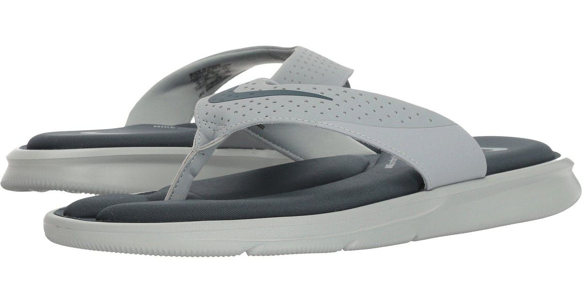 Lyst - Nike Ultra Comfort Thong in Gray for Men - Save 35% 764379f2e
