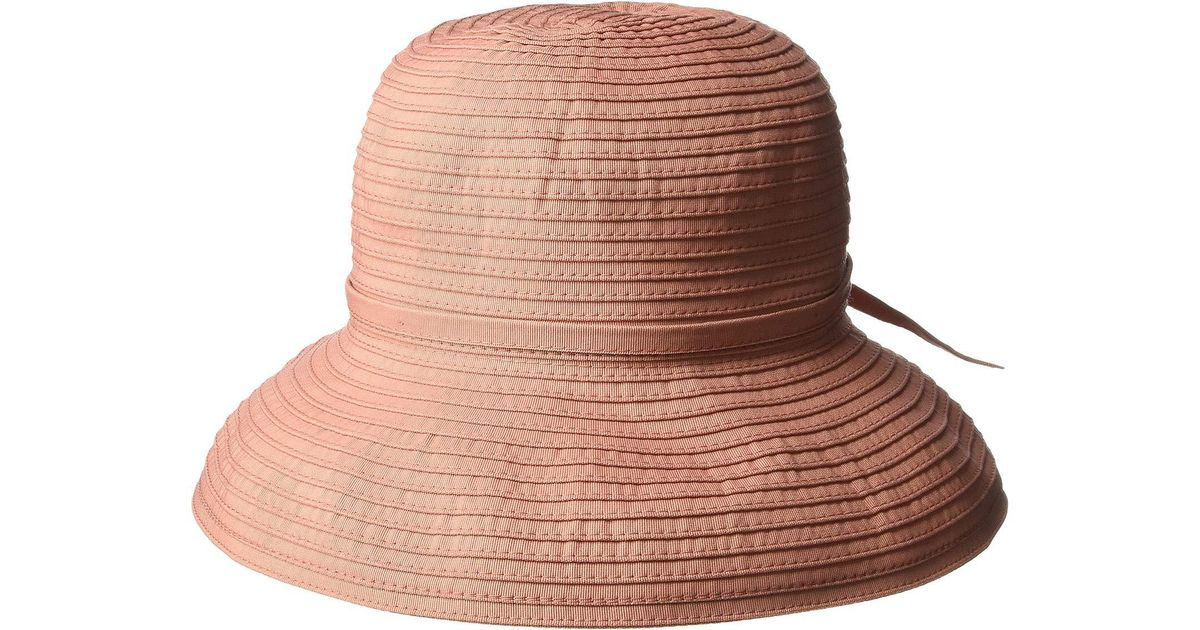 Lyst - San Diego Hat Company Ribbon Crusher Small Brim Hat (light Blue)  Bucket Caps 15a2b5c1ba32