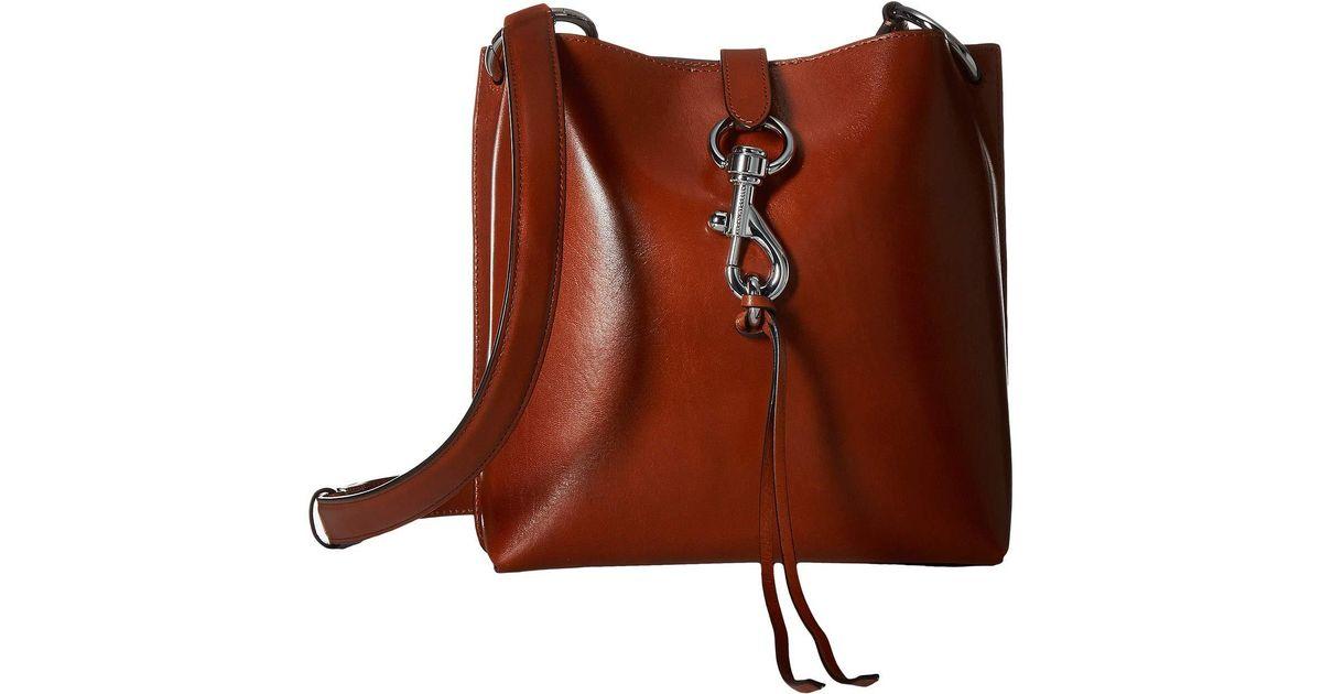 249544e42 Rebecca Minkoff Megan Small Feed Bag (black) Cross Body Handbags in Brown -  Lyst