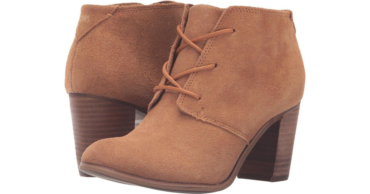 ad5981c3360 Lyst - TOMS Lunata Lace-up Bootie (wheat Suede) Women s Lace-up Boots