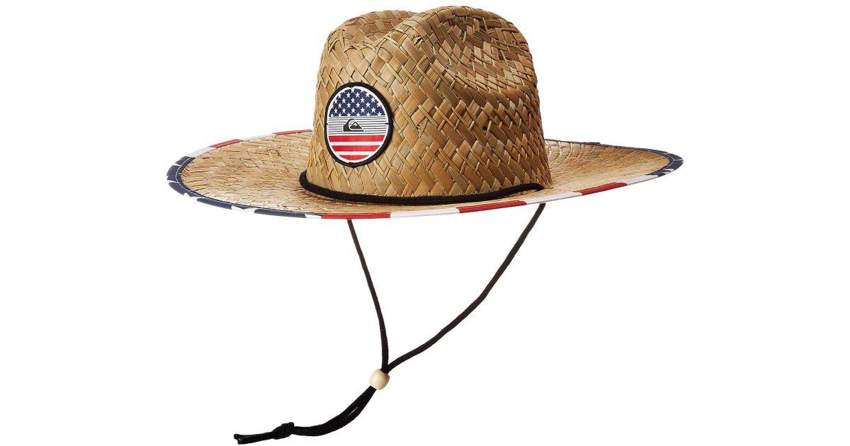 a70d42e0 Quiksilver Pierside Straw Hat (bright Cobalt) Safari Hats for Men - Lyst