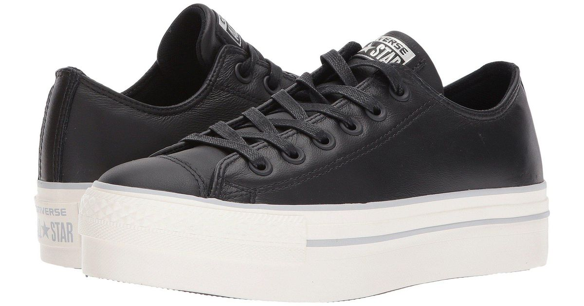 507a074c6171 Lyst - Converse Chuck Taylor® All Star® Platform Leather Ox in Black